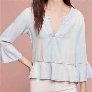 Anthropologie Tops - NWT Anthropologie Cloth & Stone chambray Top XS